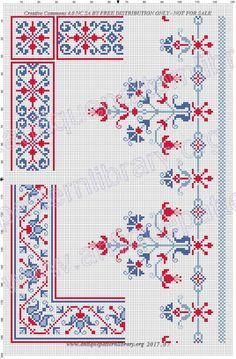 ru / Foto # 1 – o – zelka - Kreuzstich Cross Stitch Borders, Cross Stitch Flowers, Cross Stitch Designs, Cross Stitch Patterns, Embroidery Hoop Art, Cross Stitch Embroidery, Embroidery Patterns, Palestinian Embroidery, Cross Stitch Needles