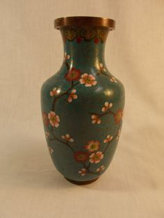 Cloisonne Vase by TabletopTreasure on Etsy, $86.00