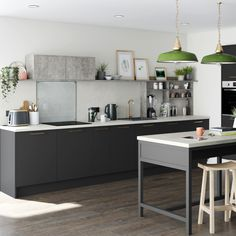 Be bold with colour by choosing these charcoal cabinet doors which are the darkest in our super matt range.