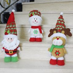 Hanging Plush Christmas Character Santa Design