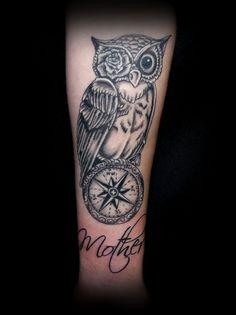 Owl/Compass by Taigeri on deviantART