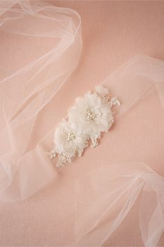 Posy Tulle Sash from @BHLDN