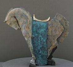 ROCKING HORSE (turquoise), 2007 by Stephen Glassborow.