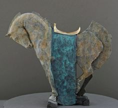 ROCKING HORSE (turquoise), 2007 by Stephen Glassborow.