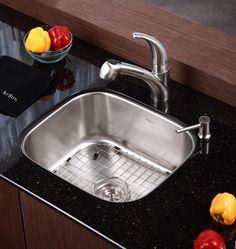 Kraus 20 inch Undermount Single Bowl Stainless Steel Kitchen Sink