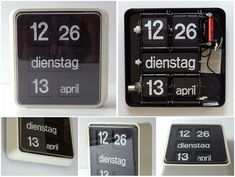 BT637 calendar clock by Pierre Bodet, produced in the '70s.