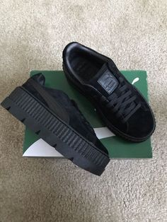 e81f828d1938 Fenty by Rihanna Suede Cleated Creeper. The Latest Fenty Puma By Rihanna  Collection Takes Classic School Uniforms And Dismantles Them.