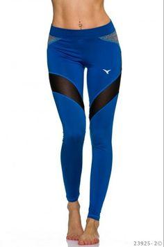 Αθλητικό κολάν με πλάγιες διαφάνεις - Μπλε Ρουαγιάλ Pants, Fashion, Moda, Trousers, Fashion Styles, Women Pants, Women's Pants, Fashion Illustrations, Trousers Women