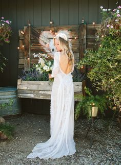 This boho chic wedding revolved around mud cloth - green wed Lace Wedding Dress, Lace Bride, Boho Bride, Wedding Dress Styles, Wedding Attire, Chic Wedding, Grace Loves Lace, Princess Ball Gowns, Santorini Wedding