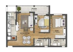 Small Apartment Plans, Apartment Floor Plans, Small Apartments, Small Spaces, Sims House Plans, Small House Plans, House Floor Plans, House Floor Design, Small House Design