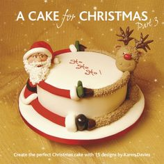 Santa and Rudolph Cake | #christmas #xmas #holiday #food #desserts