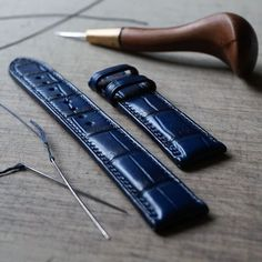 ..blue crocodile #watchstrap is finished by simaprague
