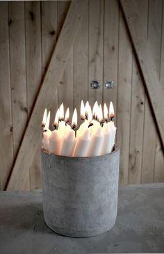 ¿Frío o Caliente? Bouquet de velas
