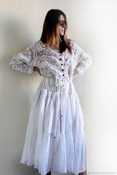 Slow Fashion, Boho Fashion, Fashion Dresses, Crochet Coat, Crochet Clothes, Boho Dress, Knit Dress, Mood Designer Fabrics, Altering Clothes