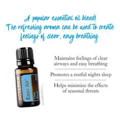Easy Air Doterra Essential Oil.  6 drops in my diffuser of a night relieves a chest cough, aids in restful sleep & eases breathing!  Also in a roller bottle topped with FCOil used as a vicks alternative, rub on chest, feet soles & back!