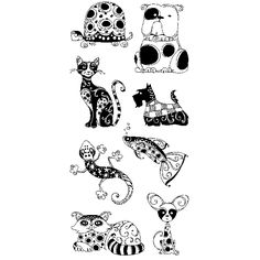 Inkadinkado Clear Stamps - Patterned Pets,$9.99