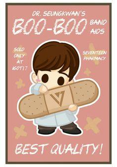 #seventeen #seungkwan fanart source: tumblr @igot17