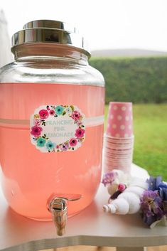 Pink prancing lemonade from a Pastel Unicorn Birthday Party on Kara's Party Ideas | KarasPartyIdeas.com (20)