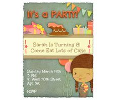Download this It's a Party! Invitation Card and other free printables from MyScrapNook.com