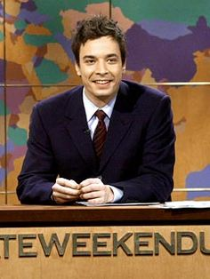 Jimmy Fallon on snl Weekend Update. When I first fell in love..