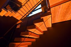 Cantilever staircase with illuminaed steps / Kragarmtreppe mit transluzenten Stufen aus Holz / Консольная лестница из дуба с подсвеченными ступенями Stairs, Home Decor, Stair Treads, Hand Railing, Stairway, Decoration Home, Room Decor, Staircases, Home Interior Design