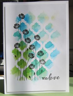 I love this technique using embossing folders & ink to print with, you can achieve some beautiful, loose watercolour effects. It's very simple to do: open up the embossing folder and deci…