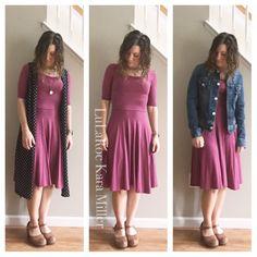 Ways to style a LuLaRoe Nicole dress for summer fashion trends and style inspiration!  1) Joy vest 2) solo 3) jean jacket  with Dansko sandal clogs Shop here: https://www.facebook.com/groups/LularoeKaraMiller/