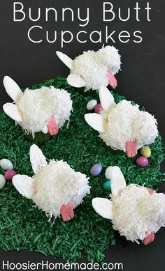 Bunny Butt Cupcakes and LOTS of Easter Printables :: HoosierHomemade.com
