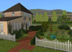 Sims Games, Sims Ideas, Deck, Mansions, House Styles, Outdoor Decor, Home Decor, Decoration Home, Manor Houses