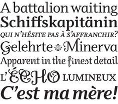 Odile. A serif typeface. Designer Sibylle Hagmann. Foundry Kontour. Released in 2006. Awarded the Swiss Federal Design Award 2006.