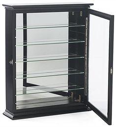 wall mounted bookshelves glass door - Google Search