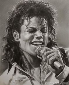 Retratos actores hiperrealismo. Michael Jackson