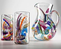 Cane-Fetti Tumblers by Justin Tarducci, Michael Richardson, Tim Underwood: Art Glass Tumbler available at www.artfulhome.com