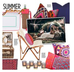"""Summer Glamp"" by stacey-lynne ❤ liked on Polyvore featuring interior, interiors, interior design, home, home decor, interior decorating and Sunnylife"