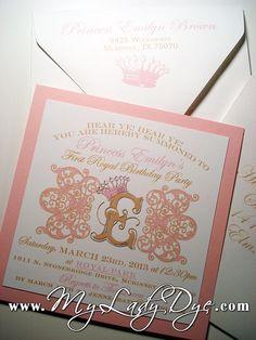Shabby Chic Princess 1st Birthday Invitation - By My Lady Dye   Flickr - Photo Sharing!
