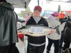 2013 Valdez Women's Silver Salmon Fish Derby winner. Valdez Alaska