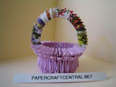 3D Origami - Flower Basquet