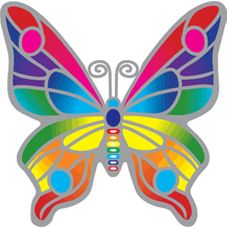 Rainbow Butterfly Daydreamer Leadlight