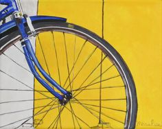 acrylic painting of bicycle - Google Search