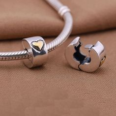 Authentic-Sterling-Silver-Clip-Lock-Spacer-Stopper-Charm-Bead-Pandora-Bracelet
