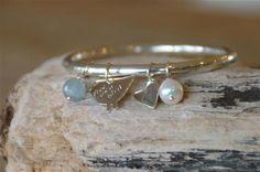 Silver bird bangle | Jeni Danks