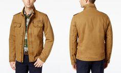 G.H. Bass & Co. Snap-Pocket Military Jacket, $109.99 Macys