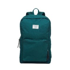 """Sandqvist Kim Rucksack in Petrol Blue: This polyester and cotton canvas neat rucksack with it's leather details is a favourite in our stores. It's inner 13"""" laptop and iPad sleeve and outer zipper pocket make it a great everyday bag. It features adjustable shoulder straps."""
