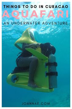 Aquafari Curacao: A Submersible Scooter Underwater Tour - A solo traveler's experience using a scuba scooter with the Curacao Aquafari in Pirate Bay Beach Caribbean Culture, Photo Packages, Caribbean Vacations, Underwater Life, Travel Goals, Travel Tips, Travel Reviews, That Way, Trip Advisor