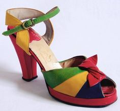 1940s Colorful Peep Toe (I actually have almost these exact shoes, but this makes me happy)