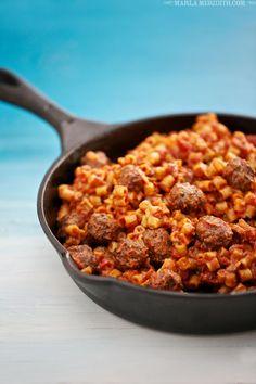 Homemade SpaghettiOs & Mini Meatballs   FamilyFreshCooking.com #backtoschool #lunchbox
