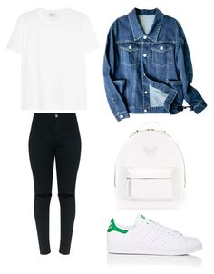 """""""Style #389"""" by maksimchuk-vika ❤ liked on Polyvore featuring Versace, adidas and Yves Saint Laurent"""