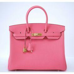 Hermes Birkin 35cm Rose Lipstick Pink Bag - Pretty in Pink - Shop The Look | Portero Luxury