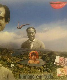 #collage  #artecontemporânea #art  #awaralab #papercollage ◇Quem é humano em tudo?