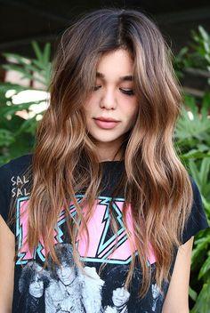 Pinterest: DEBORAHPRAHA ♥️ Soft curls for long hair #hairstyles #curls #balayage #color